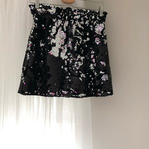 Sparkly mini skirt